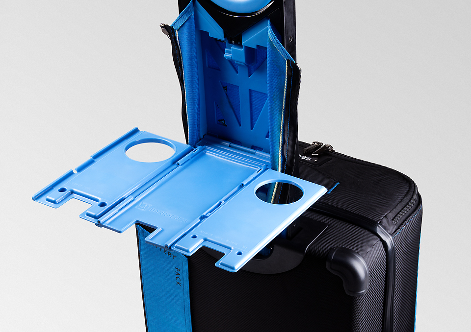 baracudda carryon with laptop tray