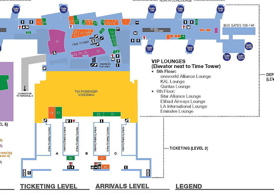 Lax airport terminal layout image collections diagram for Best parking near lax